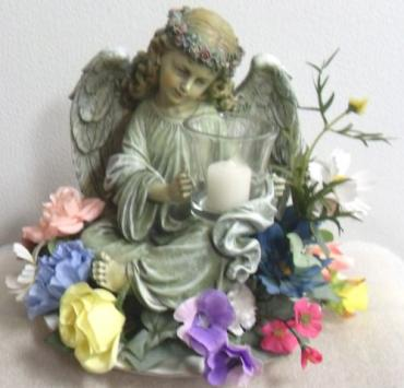 Angel Candleholder with Silks
