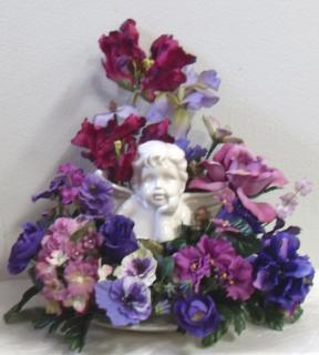 AF Shades of Purple Cherub Arrangement
