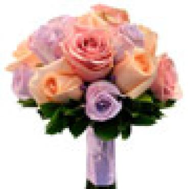 AF Lavender and Peach Rose Bouquet
