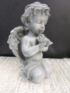 Kneeling Cherub with Dove