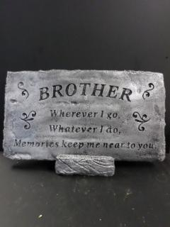 AF Weathered Brother Stone-Silver finish