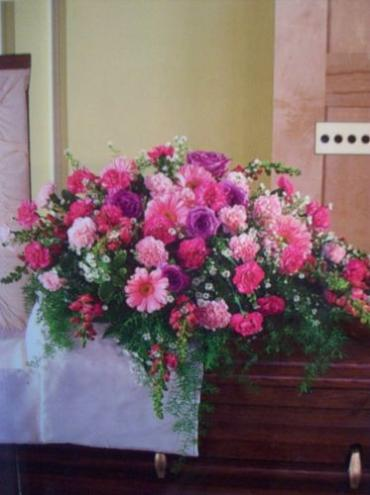 Pink and Purple Casket Spray