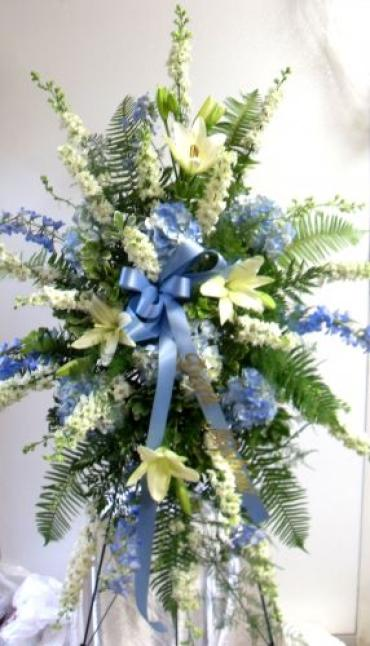 Arnold Florist Blue and White Easel