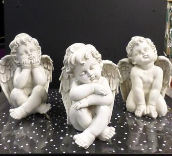 AF Bisque Colored Sitting Cherubs