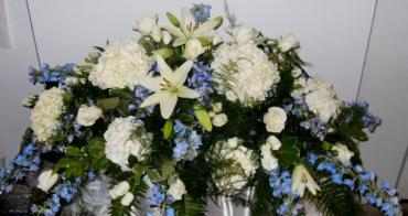 AF Blue and White Casket Spray