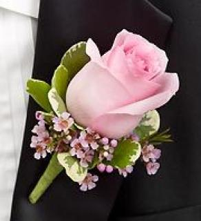 AF Pink Rose with Waxflower