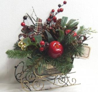 AF Permanent Metal Sleigh Bouquet