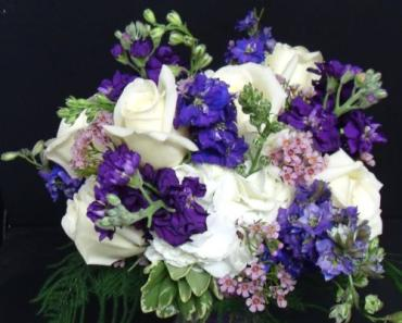 AF Purple and White Bouquet