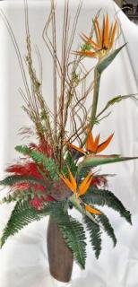 AF Tall Birds of Paradise Vase Arrangement