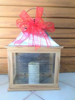 Wooden Sentiment Lantern-Memories