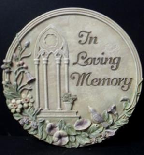 AF In Loving Memory Plaque