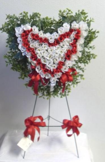 AF Red and White Heart