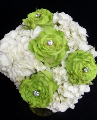 AF Hydrangea and Rose Bridesmaid Bouquet