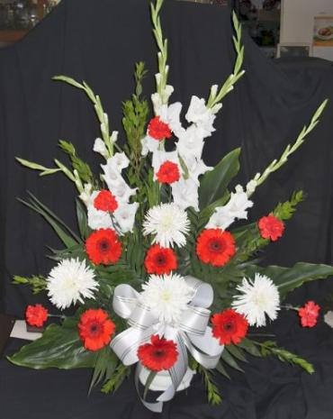 Arnold Florist Red and White Bouquet