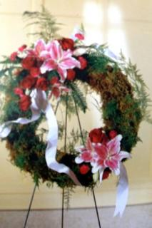 Lily and Rose Wreath