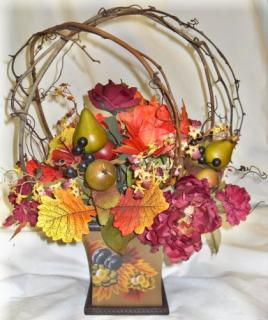 Permanent Fall Bouquet with Grapevine
