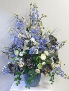 AF Permanent Blue Vase Arrangement