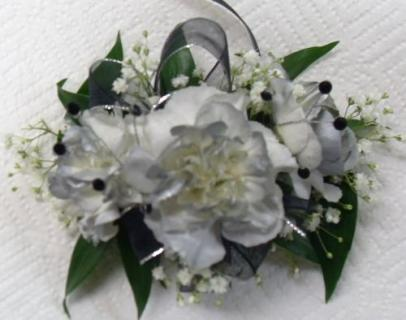 Arnold Florist Silver Corsage
