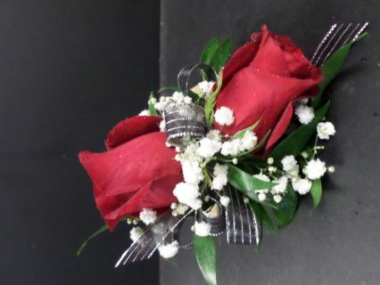AF Large Red Rose Wrist Corsage