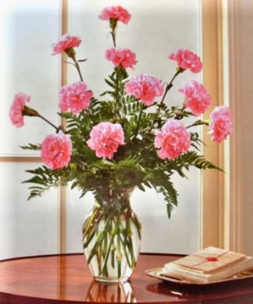 Carnation Vase Arrangement