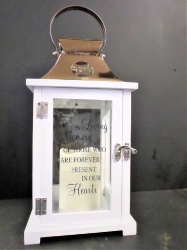 Keepsake Lantern with Led Candle-In loving Memory