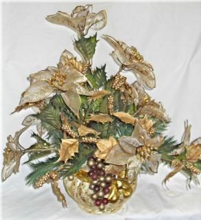 Glitzy Golden Poinsettia Bouquet