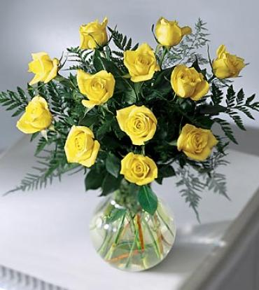 Premium Long Stemmed Yellow Rose Bouquet