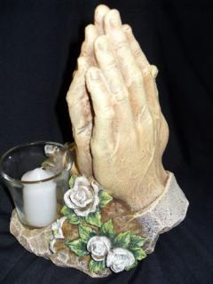 Praying Hands with Votive