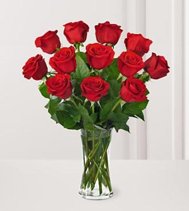 AF One Dozen Red Rose Bouquet