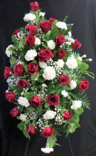 AF Red Rose and White Carnation Spray (Medium)