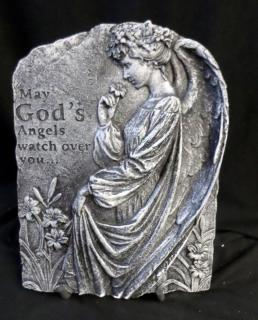 God\'s Angel Cement Stone with Shiny Finish