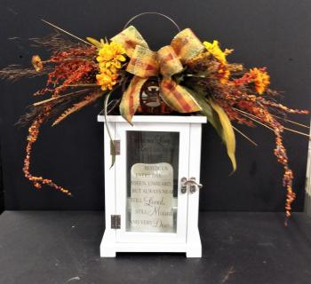 Fall Swag With Keepsake Lantern