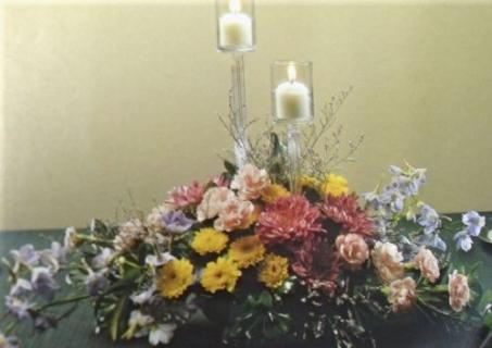 Double Votive Centerpiece