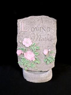 Weathered Cement Stone Loving Mother