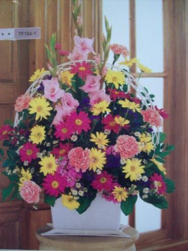 Traditional mix of flowers