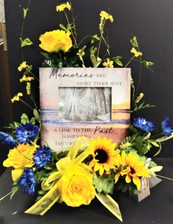 AF Memories Picture Frame with Silk Flowers