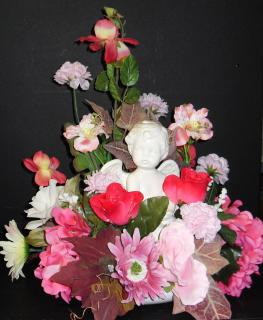 AF Shades of Pink Cherub Arrangement