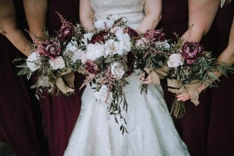Bridal and Attendants\' Bouquets