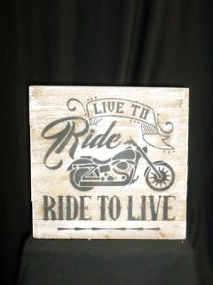 Af Wooden Sentiment #7, Motorcycle